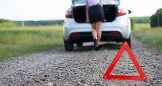 Woman on roadside © FotoYakov/Shutterstock.com