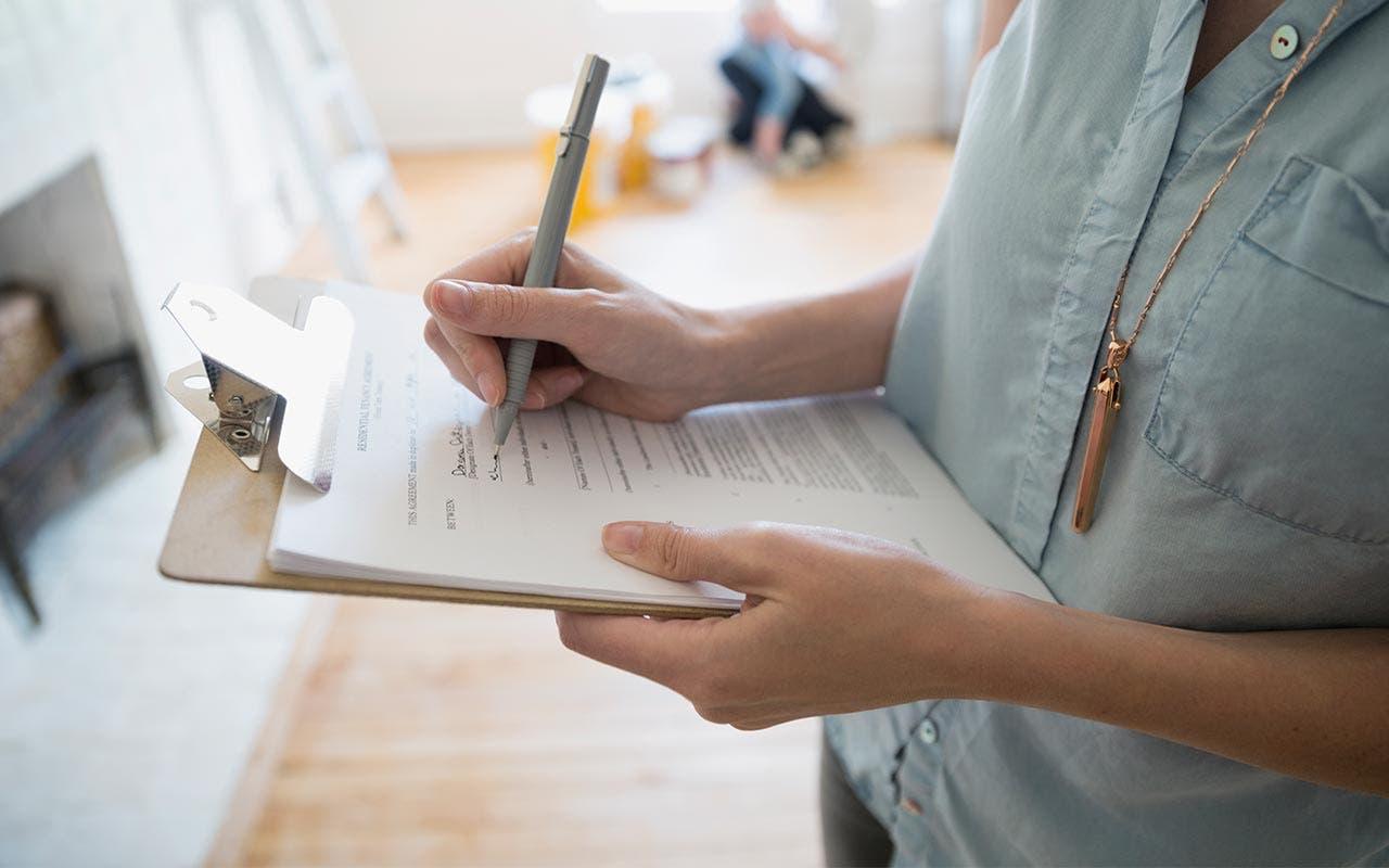 Woman doing a home appraisal