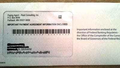 See a foreclosure check envelope