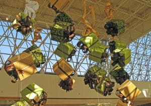 Holiday mall shopping