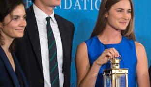 From left to right are Rose Schlossberg, Jack Schlossberg and Lauren Bush Lauren.