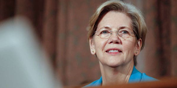 Sen. Elizabeth Warren questions why bankers haven't been prosecuted after illegal activities.© James Berglie/ZUMA Press/Corbis