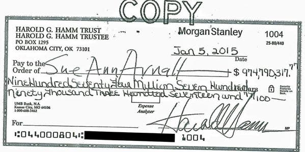 The Biggest Personal Check Ever