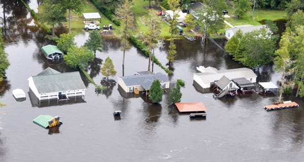 A U.S. Coast Guard overflight shows the magnitude of the devastation in Sumter County, S.C. © Demotix Live News/Demotix/Corbis