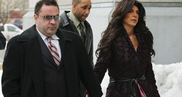 Teresa and Joe Giudice face an IRS tax lien midway through serving their prison sentences. © EDUARDO MUNOZ/Reuters/Corbis