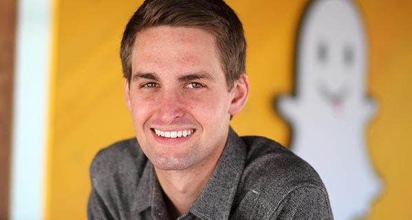 Snapchat CEO Evan Spiegel, age 25, is the youngest billionaire on the list. © J. Emilio Flores/Corbis