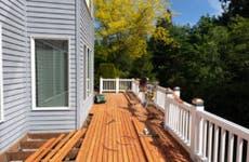House deck under renovation