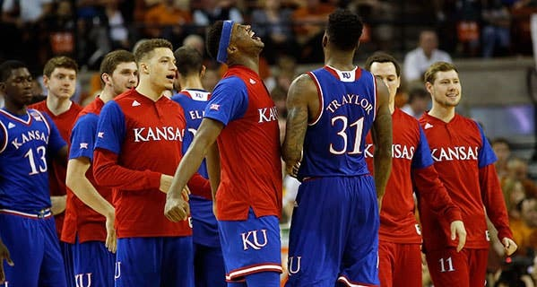 The Kansas University Jayhawks are the top-ranked men's college basketball team heading toward March Madness, a big event for real fans and fantasy sports players alike. Chris Covatta/Getty Images