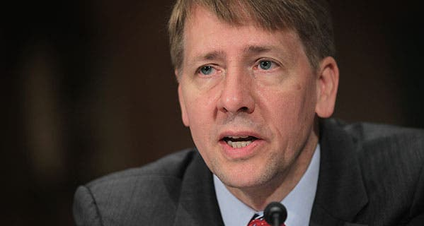 Richard Cordray, head of the Consumer Financial Protection Bureau. Alex Wong/Getty Images