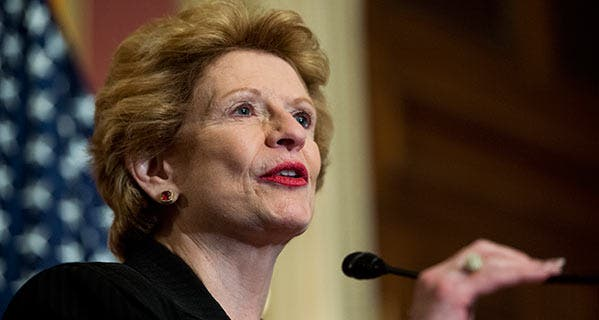 Sen. Debbie Stabenow, D-Michigan, says students who were victims of fraud shouldn't have to pay taxes on their forgiven student loans. Bill Clark/CQ-Roll Call Group/Getty Images