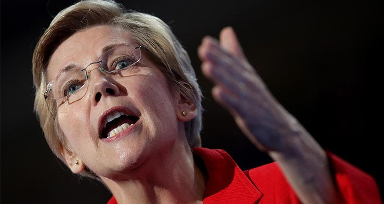 Sens. Elizabeth Warren, D-Mass., above, and Bob Menendez, D-N.J., introduced a bill intended to alleviate the tax consequences of student loan forgiveness. Chip Somodevilla/Getty Images