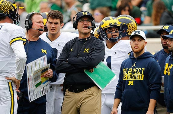 Jim Harbaugh | Mike Ehrmann/Getty Images