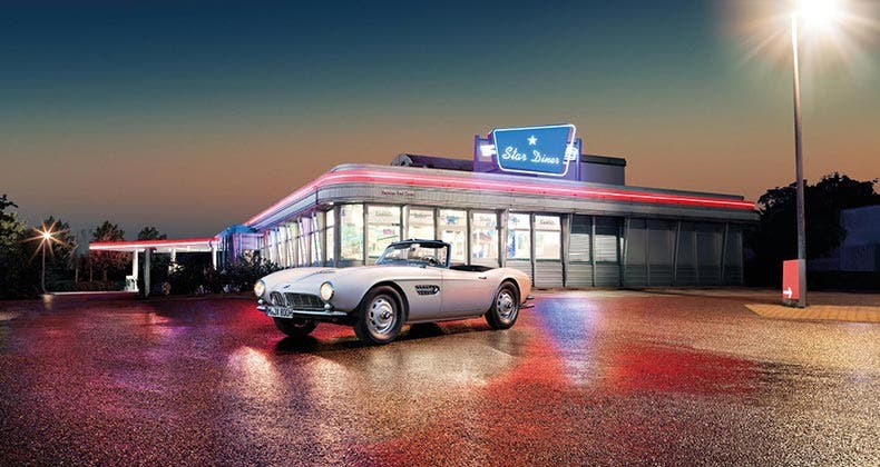 Elvis bought this BMW 507 in Frankfurt, Germany, in 1958 while he was in the U.S. Army. Courtesy BMW