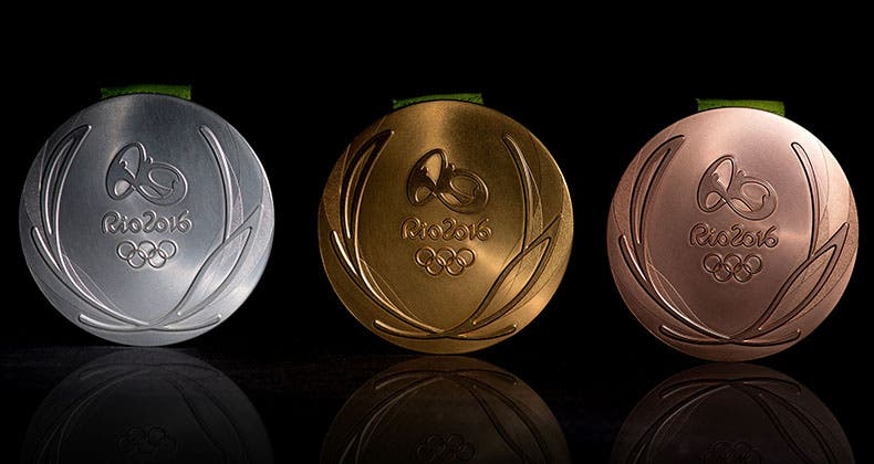 The Olympics medals come with cash prizes, and some members of Congress don't want U.S. Olympics winners to owe tax on them. Olympics/Getty Images