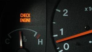 'Check engine light' lit up on dashboard