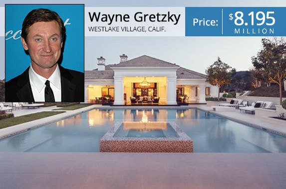 Celeb house for sale: Wayne Gretzky's California estate | House: Realtor.com | Wayne: © s_bukley Shutterstock.com