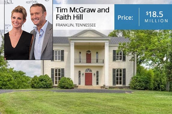 Celebrity house for sale faith hill tim mcgraw farm for Mcgraw hill real estate