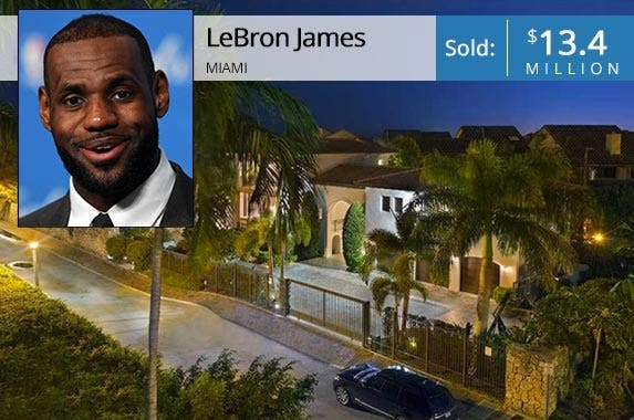 LeBron James | Jason Miller/Stringer/Getty Images; House: Realtor.com