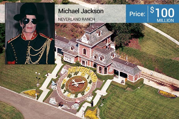 Michael Jackson: © Selwyn Tait/Sygma/Corbis; House: Realtor.com