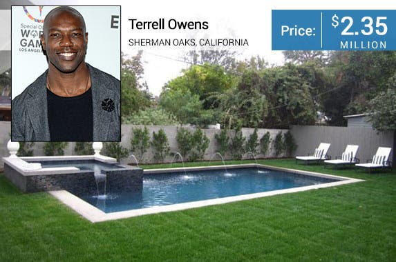 Terrell Owens' home for sale © Tonya Wise/AdMedia/AdMedia/Corbis; House: Realtor.com
