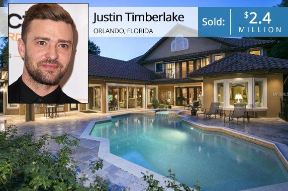 Justin Timberlake | Steve Granitz/WireImage/Getty Images; House: Redfin