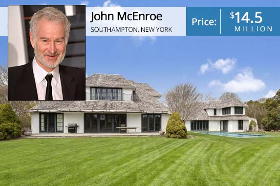 John McEnroe | Anthony Harvey/Getty Images; House: Realtor.com