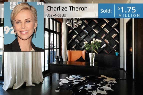 Charlize Theron | Mireya Acierto/Getty Images; House: Redfin