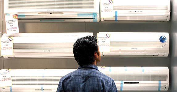 Room AC units | Yamini Chao/Getty Images