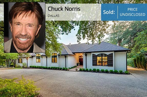 Celebrity House Sold Movie And Tv Tough Guy Chuck Norris