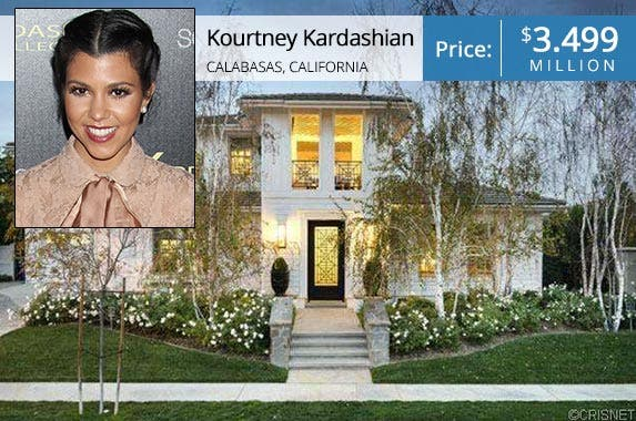Kourtney Kardashian © admedia/Shutterstock.com; House: Realtor.com