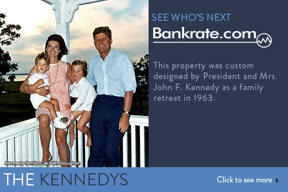 This property was custom designed by President and Mrs. John F. Kennedy as a family retreat in 1963. © Kennedy family: Cecil W. Stoughon