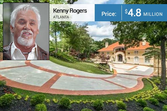 Celebrity house for sale: Realtor.com, Kenny Rogers: © PR Photos.