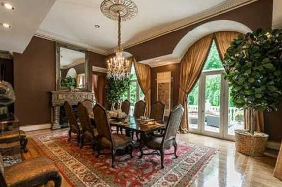 Dining room, Celebrity house for sale: Realtor.com