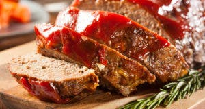 Meatloaf and rosemary sprig © iStock