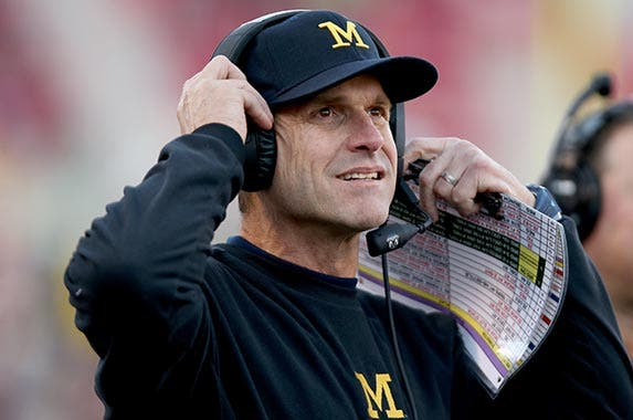 Jim Harbaugh (University of Michigan) | Andy Lyons/Getty Images