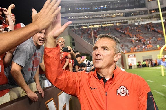 Urban Meyer (Ohio State University) | Michael Shroyer/Getty Images