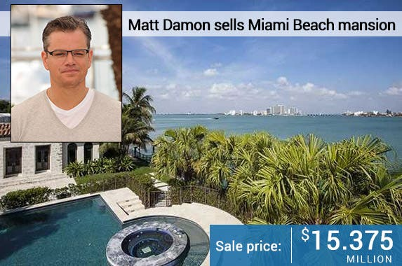 Matt Damon: © Featureflash/Shutterstock.com; House: Realtor.com