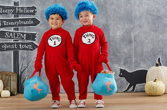 Thing 1 Thing 2 Photo courtesy of Pottery Barn Kids