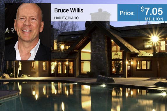 Bruce Willis' Idaho lodge is for sale © Nancy Kaszerman/ZUMA Press/Corbis; House: Realtor.com
