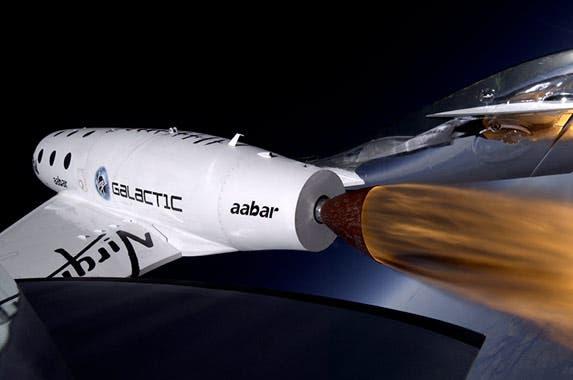 Trip to space on the Virgin Galactic © Virgin Galactic