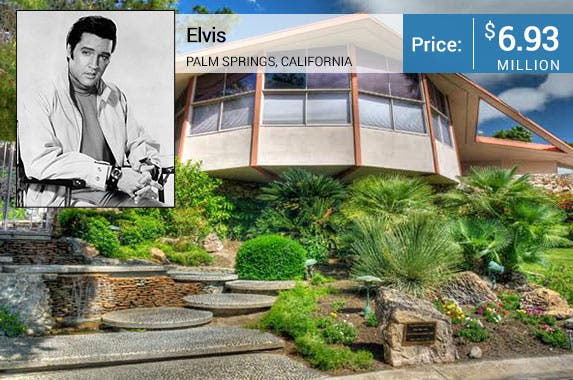 Elvis Presley's honeymoon house for sale © Bettmann/CORBIS; House: Realtor.com