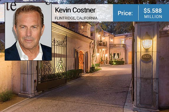 Kevin Costner: © Byron Purvis/AdMedia/Corbis; House: Kevin Grahn, Partners Trust