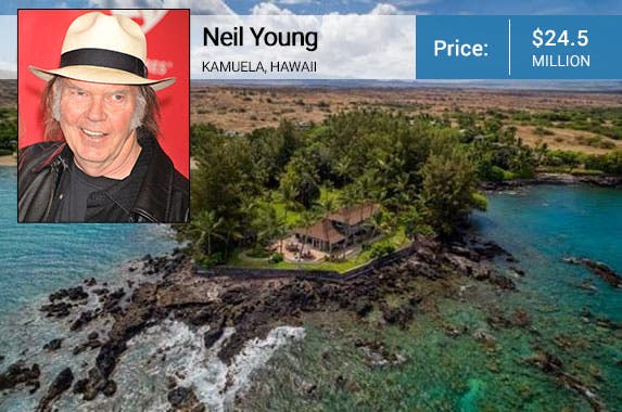 Neil Young: © Frank Trapper/Corbis; House: Realtor.com