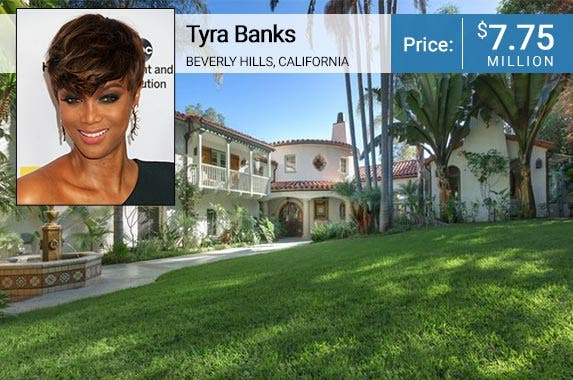 Tyra Banks © Byron Purvis/AdMedia/Corbis; House: Realtor.com