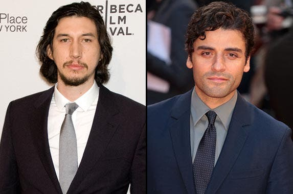 Lower middle: Adam Driver, Oscar Isaac © Efren S. Landaos/Press Line Photos/Corbis, © info100/Demotix/Corbis