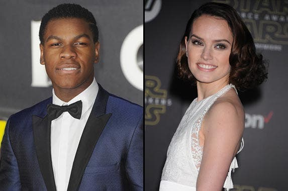 The bottom: John Boyega, Daisy Ridley © Ferdaus Shamim/ZUMA Press/Corbis, © Frank Trapper/Corbis