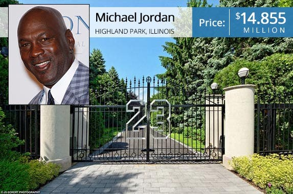 Celebrity house for sale michael jordan for Michael jordan real estate