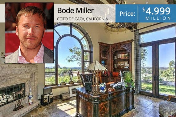 Bode Miller: © Byron Purvis/AdMedia/Corbis; House: Realtor.com