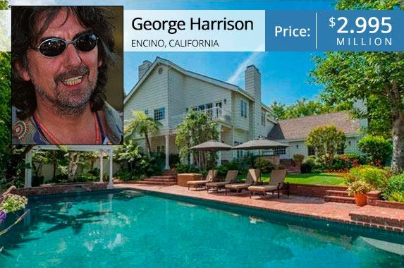 George Harrison: © Sutton Images/Corbis; House: Redfin