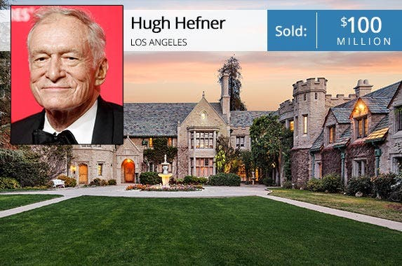 Hugh Hefner: © DANNY MOLOSHOK/Reuters/Corbis; House: Gary Gold & Drew Fenton at Hilton & Hyland, Mauricio Umansky at The Agency; Photo credit: Jim Bartsch